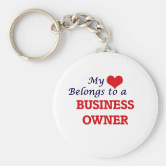 My heart belongs to a Business Owner Keychain