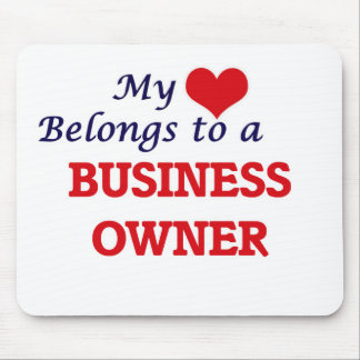 My heart belongs to a Business Owner Mouse Pad