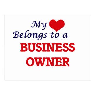 My heart belongs to a Business Owner Postcard