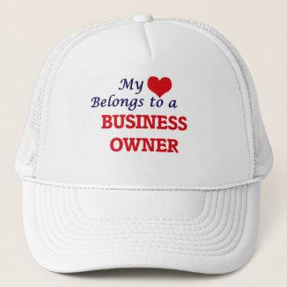 My heart belongs to a Business Owner Trucker Hat