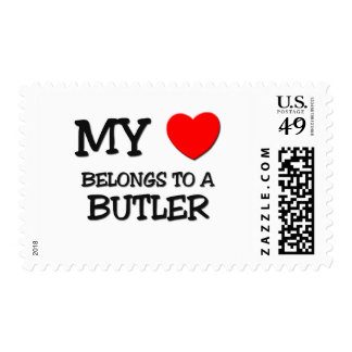 My Heart Belongs To A BUTLER Postage Stamp