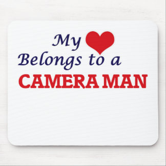 My heart belongs to a Camera Man Mouse Pad