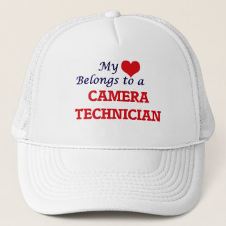 My heart belongs to a Camera Technician Trucker Hat