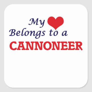 My heart belongs to a Cannoneer Square Sticker