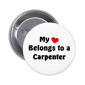 My heart belongs to a Carpenter 2 Inch Round Button