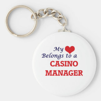 My heart belongs to a Casino Manager Keychain