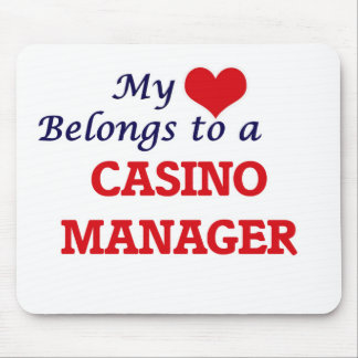 My heart belongs to a Casino Manager Mouse Pad