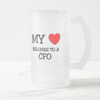 My Heart Belongs To A CFO Coffee Mugs