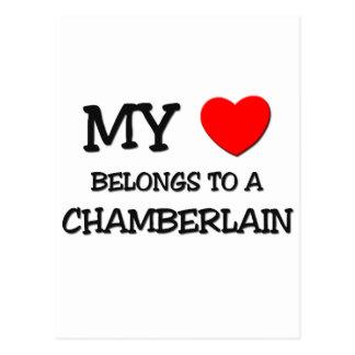 My Heart Belongs To A CHAMBERLAIN Postcard