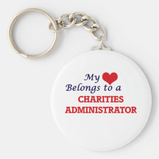 My heart belongs to a Charities Administrator Keychain