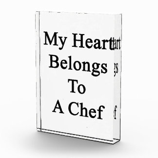 My Heart Belongs To A Chef Award