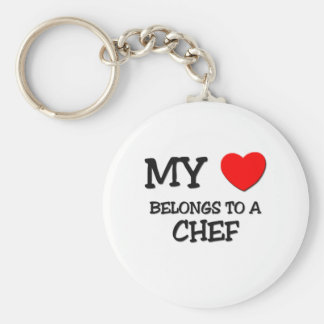 My Heart Belongs To A CHEF Keychains