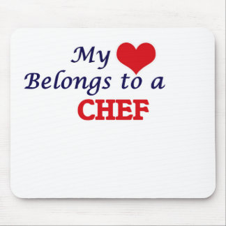 My heart belongs to a Chef Mouse Pad