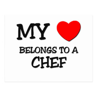 My Heart Belongs To A CHEF Postcard