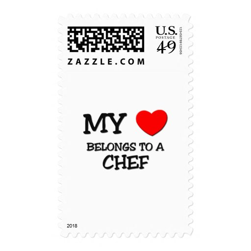 My Heart Belongs To A CHEF Stamps