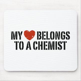 My Heart Belongs To A Chemist Mousepad