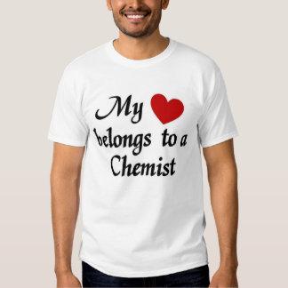 My heart belongs to a chemist shirt