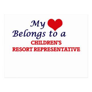 My heart belongs to a Children's Resort Representa Postcard