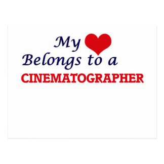 My heart belongs to a Cinematographer Postcard