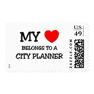My Heart Belongs To A CITY PLANNER Postage