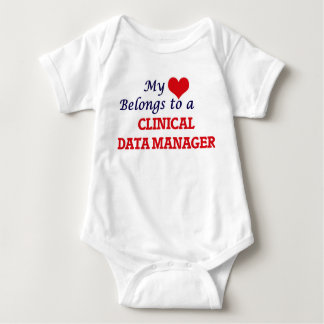 My heart belongs to a Clinical Data Manager Baby Bodysuit