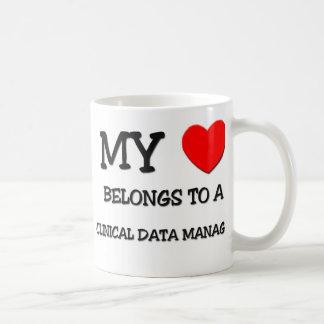 My Heart Belongs To A CLINICAL DATA MANAGER Coffee Mug