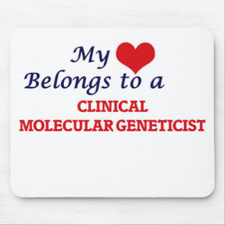 My heart belongs to a Clinical Molecular Geneticis Mouse Pad