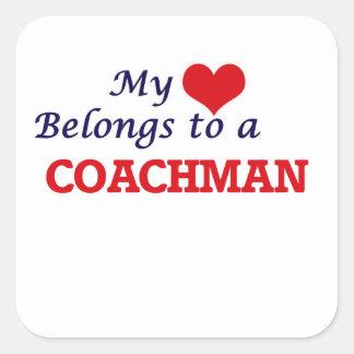 My heart belongs to a Coachman Square Sticker
