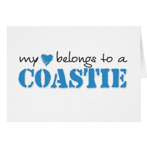 My Heart Belongs To A Coastie Card