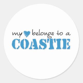 My Heart Belongs To A Coastie Classic Round Sticker