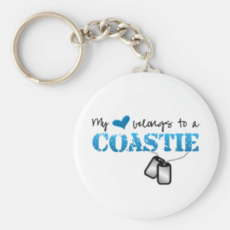 My heart belongs to a Coastie Keychain