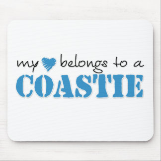 My Heart Belongs To A Coastie Mouse Pad