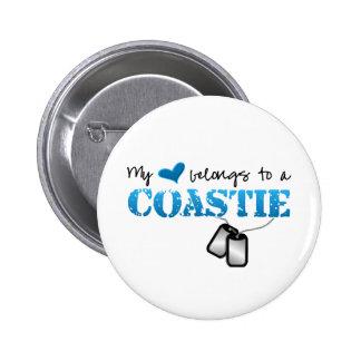 My heart belongs to a Coastie Pinback Button