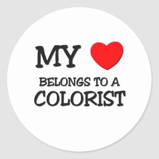 My Heart Belongs To A COLORIST Classic Round Sticker