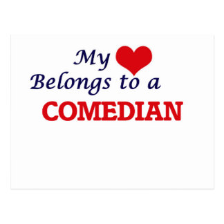 My heart belongs to a Comedian Postcard