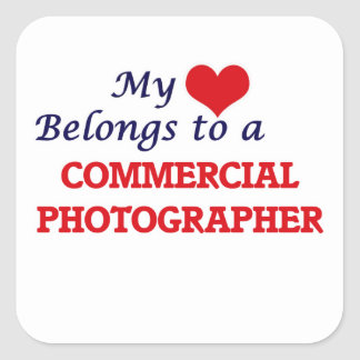 My heart belongs to a Commercial Photographer Square Sticker