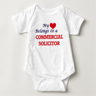 My heart belongs to a Commercial Solicitor Baby Bodysuit