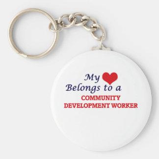 My heart belongs to a Community Development Worker Keychain