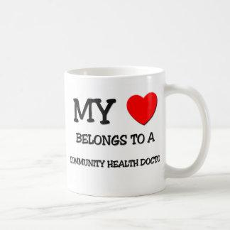My Heart Belongs To A COMMUNITY HEALTH DOCTOR Classic White Coffee Mug