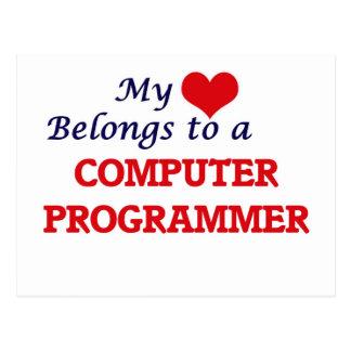 My heart belongs to a Computer Programmer Postcard