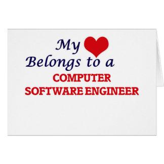 My heart belongs to a Computer Software Engineer Card