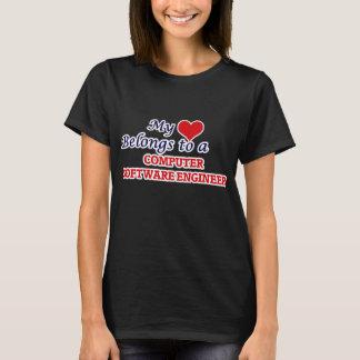 My heart belongs to a Computer Software Engineer T-Shirt