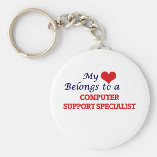 My heart belongs to a Computer Support Specialist Keychain