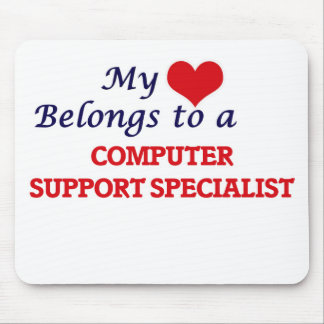 My heart belongs to a Computer Support Specialist Mouse Pad