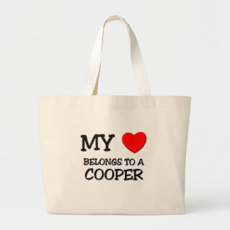 My Heart Belongs To A COOPER Large Tote Bag