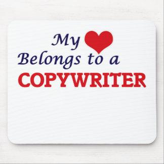 My heart belongs to a Copywriter Mouse Pad
