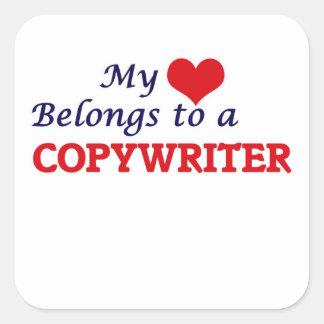 My heart belongs to a Copywriter Square Sticker
