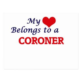My heart belongs to a Coroner Postcard