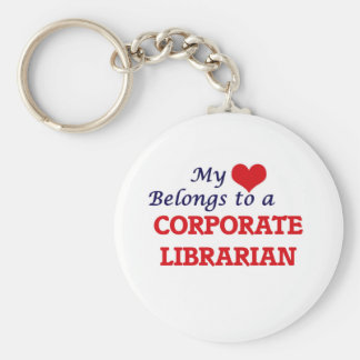 My heart belongs to a Corporate Librarian Keychain