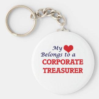 My heart belongs to a Corporate Treasurer Keychain